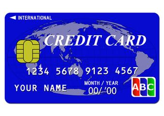 クレジットカード(青)