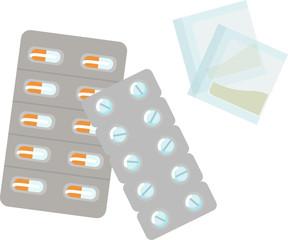 錠剤と粉薬