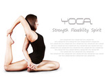 Fototapety Yoga background with girl