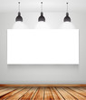 poster in room with ceiling lamp vector