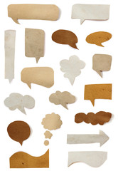 Collection paper speech bubble