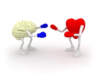 Heart vs Mind. Fighting.