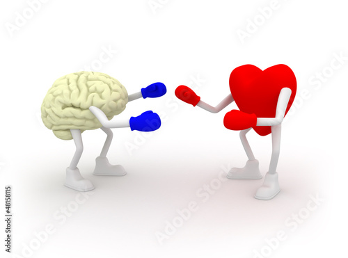Heart vs Mind. Fighting.