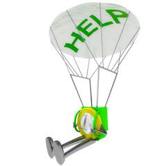 euro coin robot parachutisthelp illustration