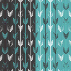 Seamless graphic arrow pattern