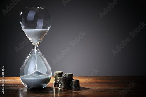 Leinwanddruck Bild Time is money