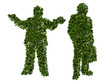 Silhouette, agricoltura biologica, verde, ecologia, allevamento