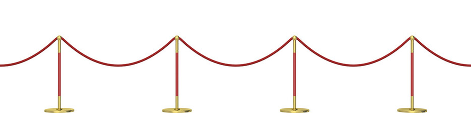 barrier on a white background