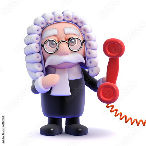 Judge picks up the red phone