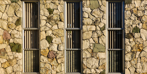 Rock Windows Wall