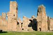 The ruins of the Baths of Caracalla, ancient roman public baths,