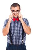 Nerd man in eyeglasses