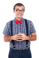 Ecstatic nerd man