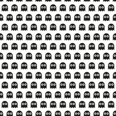 Seamless cute monster pattern