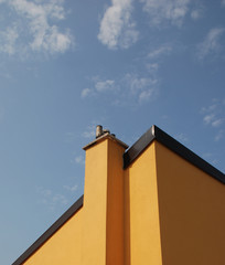 Yellow Building Against Blue Sky, Piran