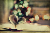 Book - heart - bokeh - texture
