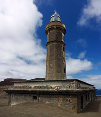 Old lighthouse of Capelinhos, Faial Azores islands