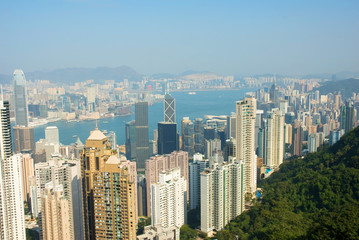 China, Hong Kong cityscape from the Peak