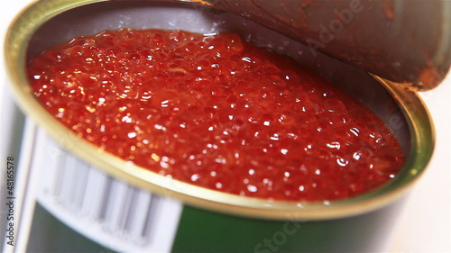 Tin Can with Red russian Caviar