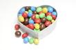 Herz mit Bonbons