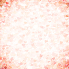 Valentine's day background with hearts. Seamless background with