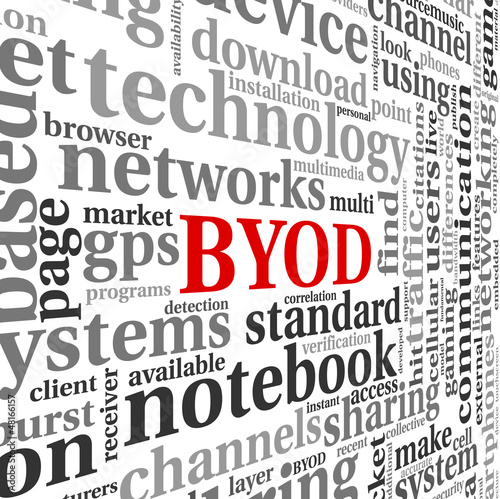 BYOD concept in tag cloud