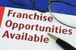 Franchise opportunities concept of new business opportunities