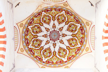 Interior view of a dome from Uc Serefeli Mosque courtyard, Edirn
