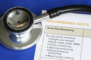 List of medical shots and tests concept of vaccination
