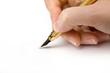 Pen in woman hand