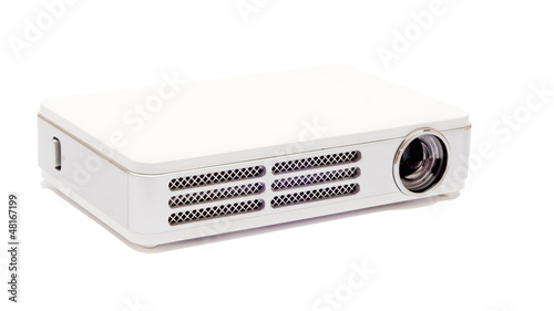 Isolated  projector on the white background