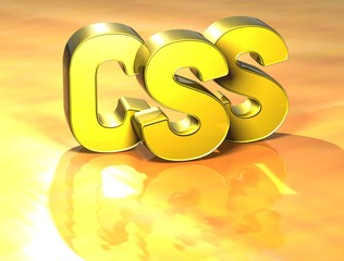 3D Word CSS on yellow background