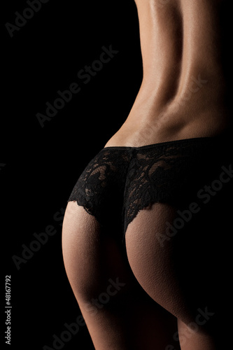 canvas print picture Akt Panty