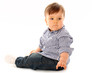 Beautiful baby boy isolated over white background