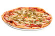 Image of fresh italian pizza isolated