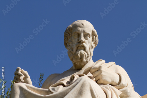 Statue of Plato in Greece