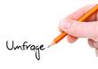 Umfrage / Handschrift