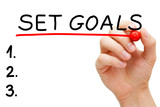 Set Goals Hand Red Marker