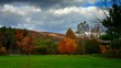 Timelapse of fall Foliage landscape panorama