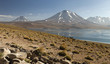 Laguna altiplanica, Atacama