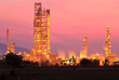 Landscape oil refinery at twilight