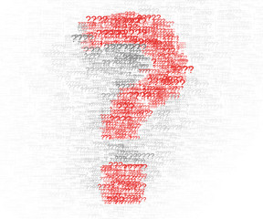 Question mark design element