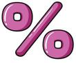 A percentage symbol