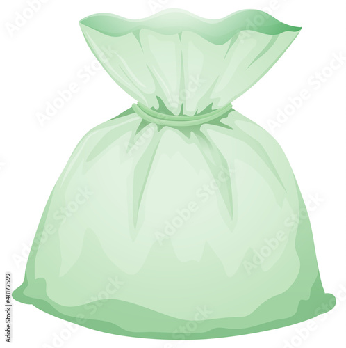 A light green pouch