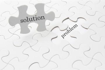 ビジネスイメージ―solution and problem