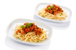 Pasta with meat, sauce and vegetables