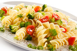 Fototapeta Pasta with vegetables