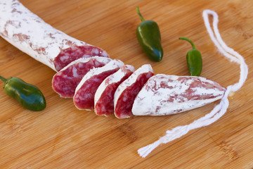 Spanish fuet sausage