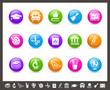 School & Education Icons // Rainbow Series