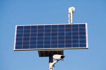 sistema di videosorveglianza con pannello solare